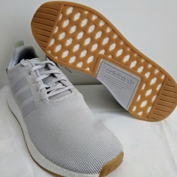 NEW Adidas Originals NMD R2 Grey/ White/ Gum BOOST
